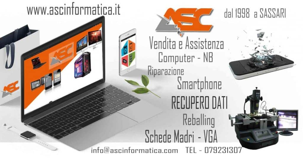 Vendita e Assistenza computer, recupero dati, Siti web, reballing, Sassari