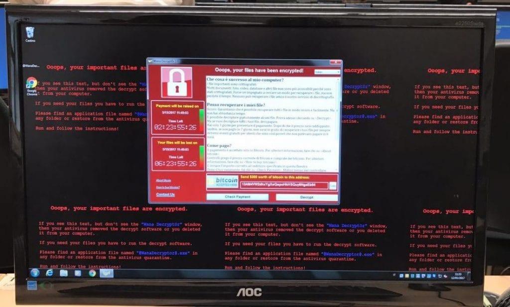 Virus, wannacry, ransomware, rimozione virus, riscatto virus